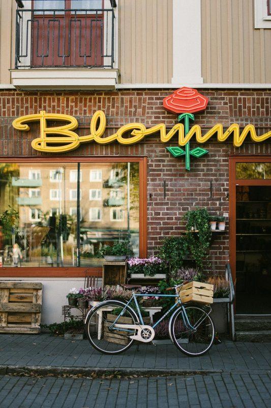 Blomsterbutik vid Ärlegatan